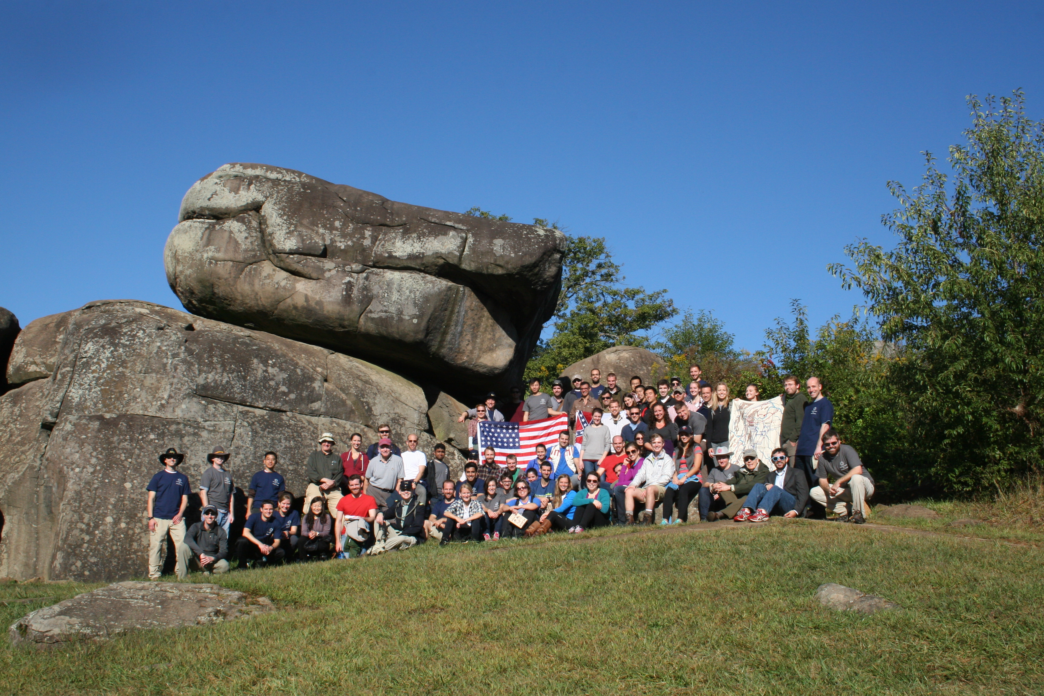 photo essay gettysburg staff ride sais dc sais students pose for a group shot at the scene of heavy fighting on 2