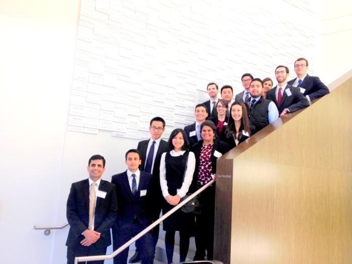 Students visit the Halliburton Research Center during the Houston career trek.(Jean-Amiel Jourdan)