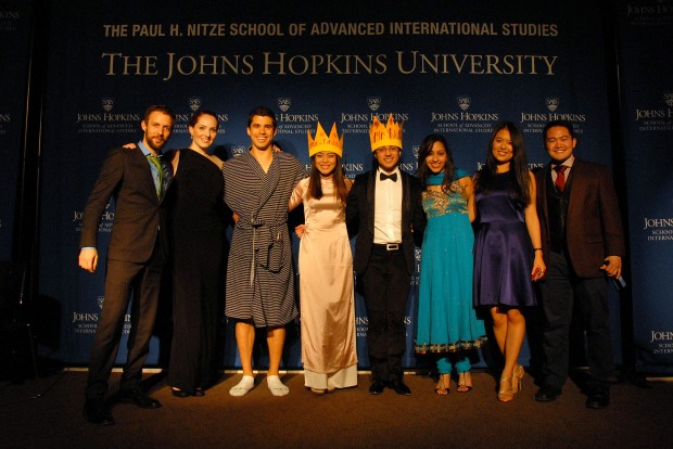 The evening's contestants (left to right): Joe Geni ,Kate Maxwell, Rob Tenorio, Pongkwan Sawasdipakdi, Ahmet Cinar, Seethal Kumar, Jing Jing Zhou, and Gian Gozum. (Sarah Rashid)
