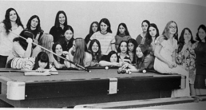 An archive photo of one of the first groups of women at JHU. (Courtesy of the JHU magazine)