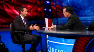 SAIS Professor Ömer Taşpinar, Ph.D. on the Colbert Report Credit: Colbert Report