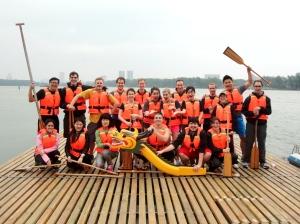 The HNC dragon boat team