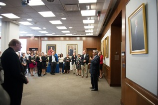 Former Dean Paul Wolfowitz Honored With Portrait