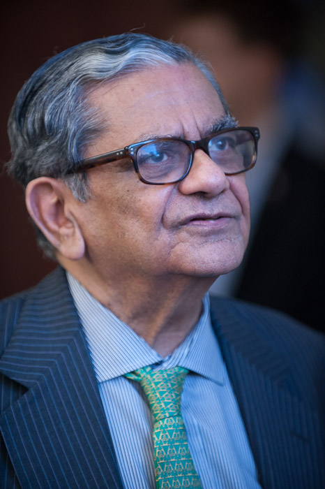 Columbia Univ.'s Jadish Bhagwati was one of several big names to attend the conference. Photo courtesy of Kaveh Sardari.