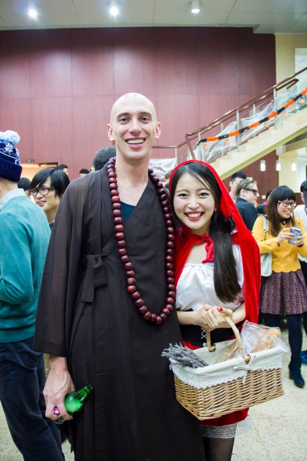 HNC students Little Red Ridinghood and a Buddhist Monk make a cute couple.