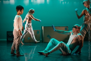 The inhabitants of modern dance opera creature's brave new world. (Photo: Enoch Chan)