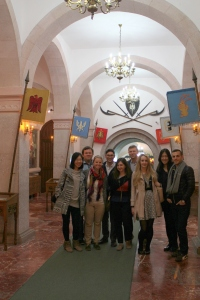 Students learned about Albanian history in the National Museum of Gjergj Kastrioti Skënderbeu (the national hero). (Photo courtesy of Joana Allamani)