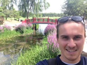 Certificate student Bret Hine enjoys a nice stroll through a traditional Chinese garden. (Photo by Bret Hine)