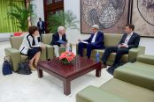 secretary_kerry_speaks_with_state_department_team_before_meetings_with_colombian_government_and_farc_peace_negotiators_in_havana_cuba_25342845353